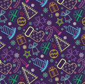 Colored Christmas wallpaper — Stock Vector