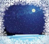 Paisagem invernal — Vetor de Stock