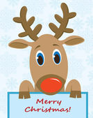 Cartoon funny deer — Stockvector