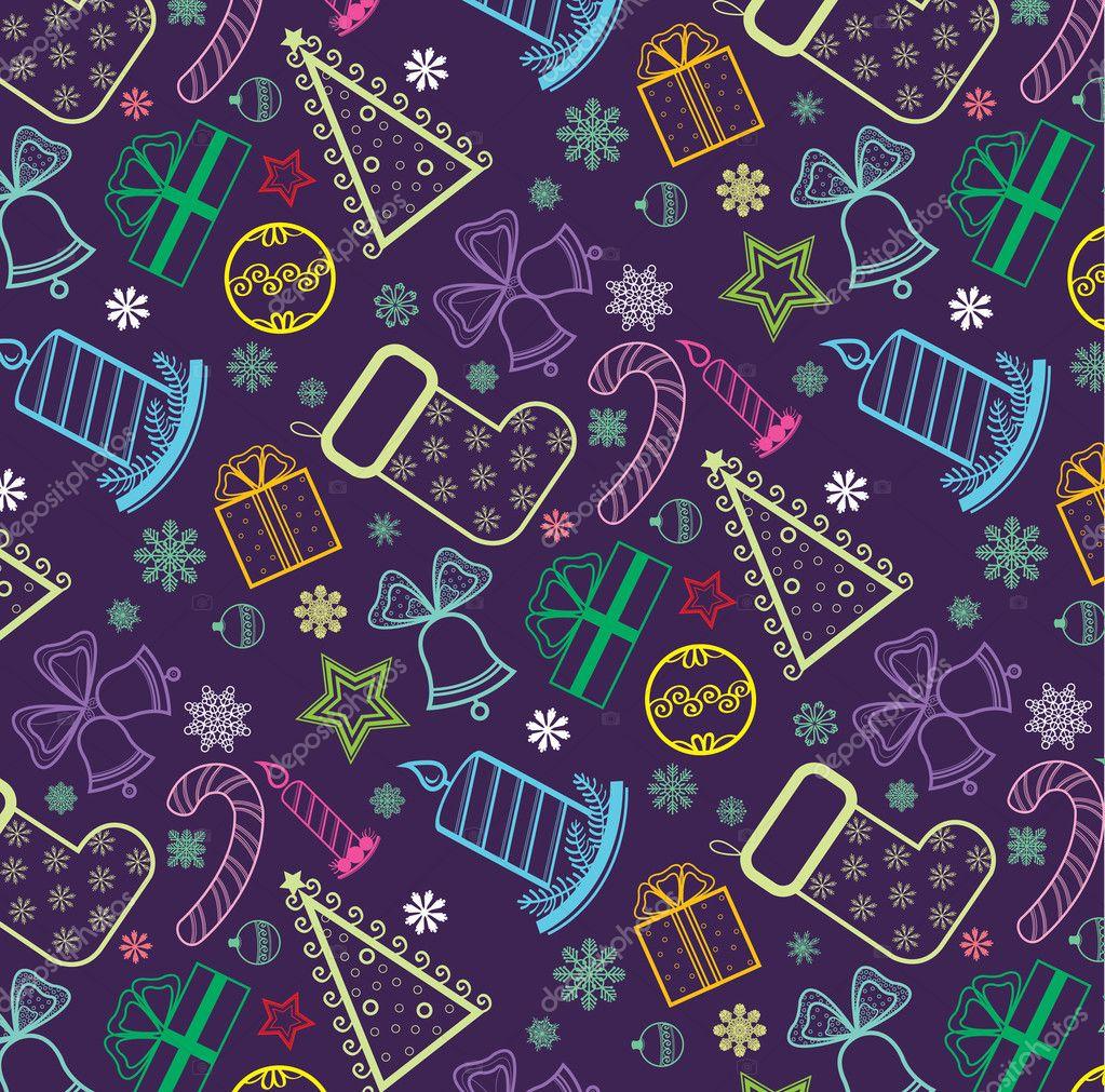 farbige weihnachten wallpaper stockvektor natuska 8560534. Black Bedroom Furniture Sets. Home Design Ideas