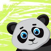 Cartone animato divertente panda — Vettoriale Stock