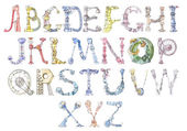 Robot alphabet — Stock Photo