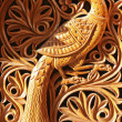 Phoenix, wood carving — Stock Photo #8591029