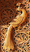 Phoenix, wood carving — Stock Photo