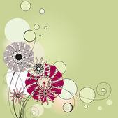 Flowers, the vignette — Stock Vector