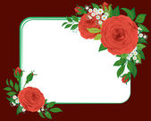 Red roses, the vignette — Stock Vector