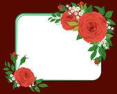 Czerwone róże, winieta — Wektor stockowy
