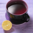 Cup of tea & lemon - Stock Photo