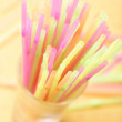 Straws in the glass — Stock Photo