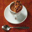 Espresso with cookie — Stock Photo