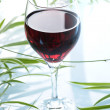 Glass of redwine — Stock Photo