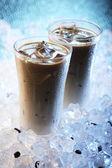 Ice-cold coffee enjoyment — Stock Photo