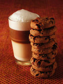 Latte Macchiato with cookies — Stock Photo