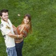 Romantic couple outdoor — Stock Photo