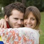 Romantic couple outdoor — Stock Photo