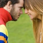 Romantic couple outdoor — Stock Photo #8288420