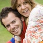 Romantic couple outdoor — Stock Photo #8288430