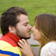 Stock Photo: My first kiss