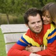 Young couple outdoor — Foto Stock