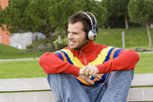 Enjoying good music — Stock Photo