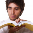 Stock Photo: Man reading a book