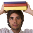 Young man with book — Stock Photo