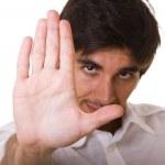 Stop gesture — Stock Photo #8290849