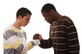 Multiracial confrontation — Stock Photo
