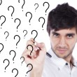 The uncertainty of many questions — Stock Photo