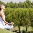 Yoga at the nature — Stock Photo
