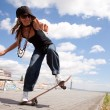 Cool skateboard woman — Stock Photo #8358138