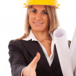 Architect woman — Stock Photo