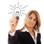 ideias de mulher de negócios — Foto Stock