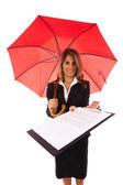 Contrato de seguro — Foto Stock