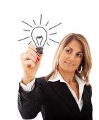 Affärskvinna ideias — Stockfoto