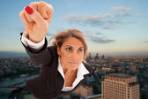 Super businesswoman — Stock Photo