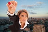 Super zakenvrouw — Stockfoto