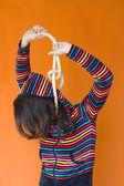 Mulher enforcada — Fotografia Stock