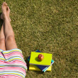 Relaxing at the grass — Stock Photo