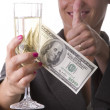 Stock Photo: Woman drinking champagne