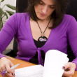 Stock Photo: Businesswoman signing documents