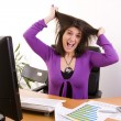 Businesswoman stress — Stock Photo #8432835