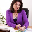 Businesswoman stress — Stock Photo