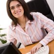 Businesswoman at the office — Stock Photo