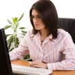 Businesswoman working — Stockfoto