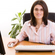 Businesswoman at the office — Foto de Stock