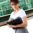 Modern businesswoman — Stock Photo