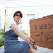 Stock Photo: Unemployed woman