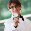 Friendly female doctor — Stockfoto