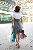 Woman after shooping — Stock Photo